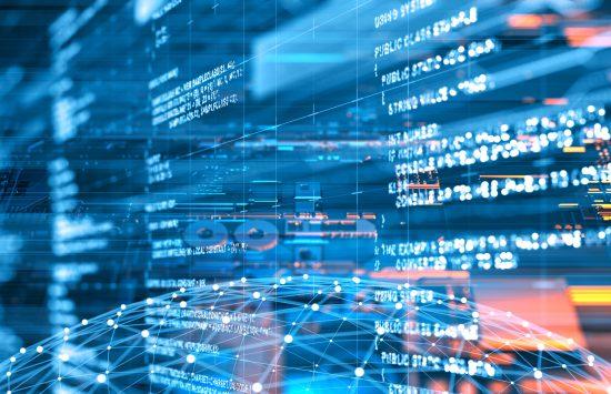 Abstract program code digital concept